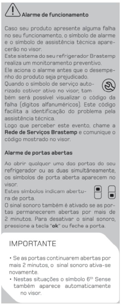 Geladeira Brastemp BRX50 - funções especiais - 7