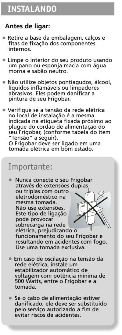 Frigobar Brastemp - BZA08 - instalando produto 1