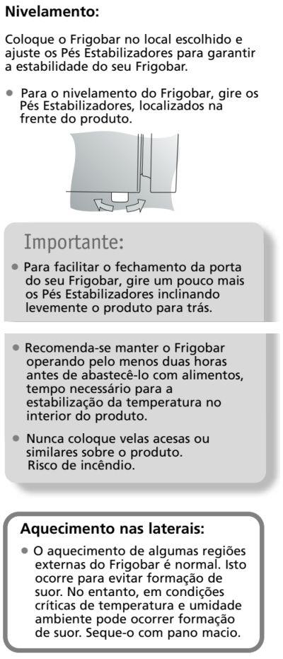 Frigobar Brastemp - BZA08 - instalando produto 3