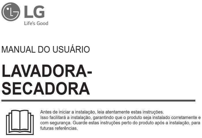 Lava e seca LG - capa manual