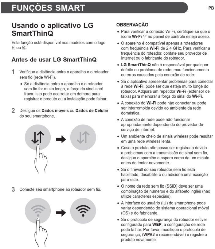 Lava e seca LG - CV5011 - usando função smart 1