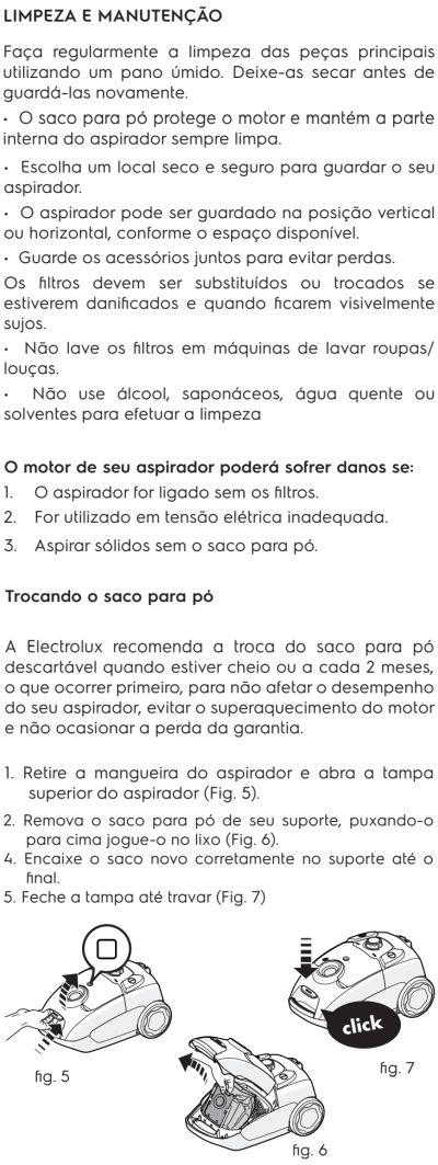Aspirador de pó Electrolux - EQP20 - limpeza e manutenção 1