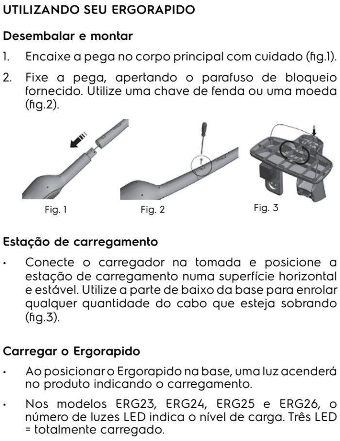 Aspirador de pó Electrolux - ERG26 - usando o produto 1