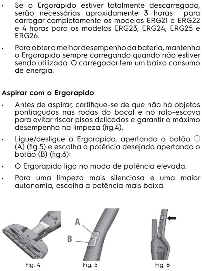 Aspirador de pó Electrolux - ERG26 - usando o produto 2