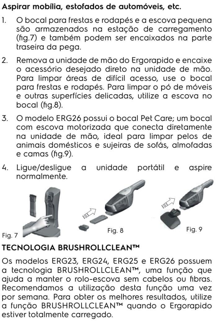Aspirador de pó Electrolux - ERG26 - usando o produto 4