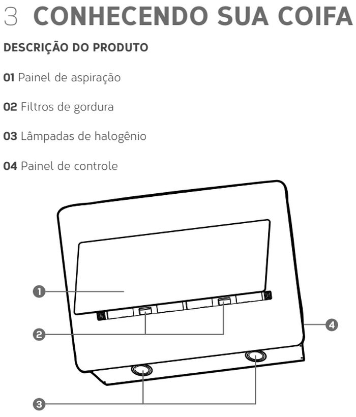 Coifa Brastemp  GAV80- conhecendo - 1