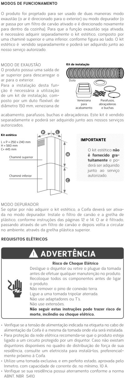 Coifa Brastemp GAV80 - instalando produto 1