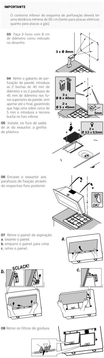Coifa Brastemp GAV80 - instalando produto 4