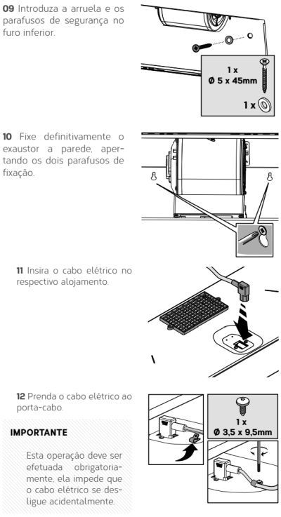Coifa Brastemp GAV80 - instalando produto 5