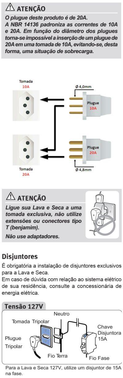 Lava e seca Electrolux - LSE03 - como instalar 2