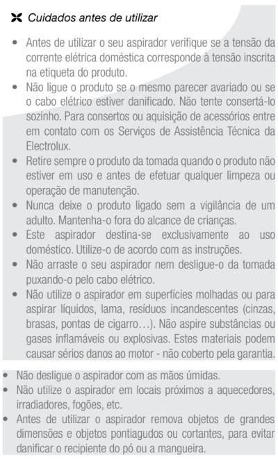 Aspirador de pó Electrolux - NAN11 - usando o produto 1