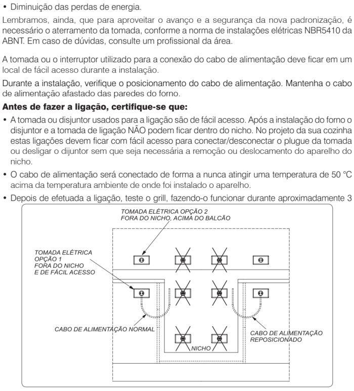 Forno elétrico Electrolux - como instalar OG8MX -7