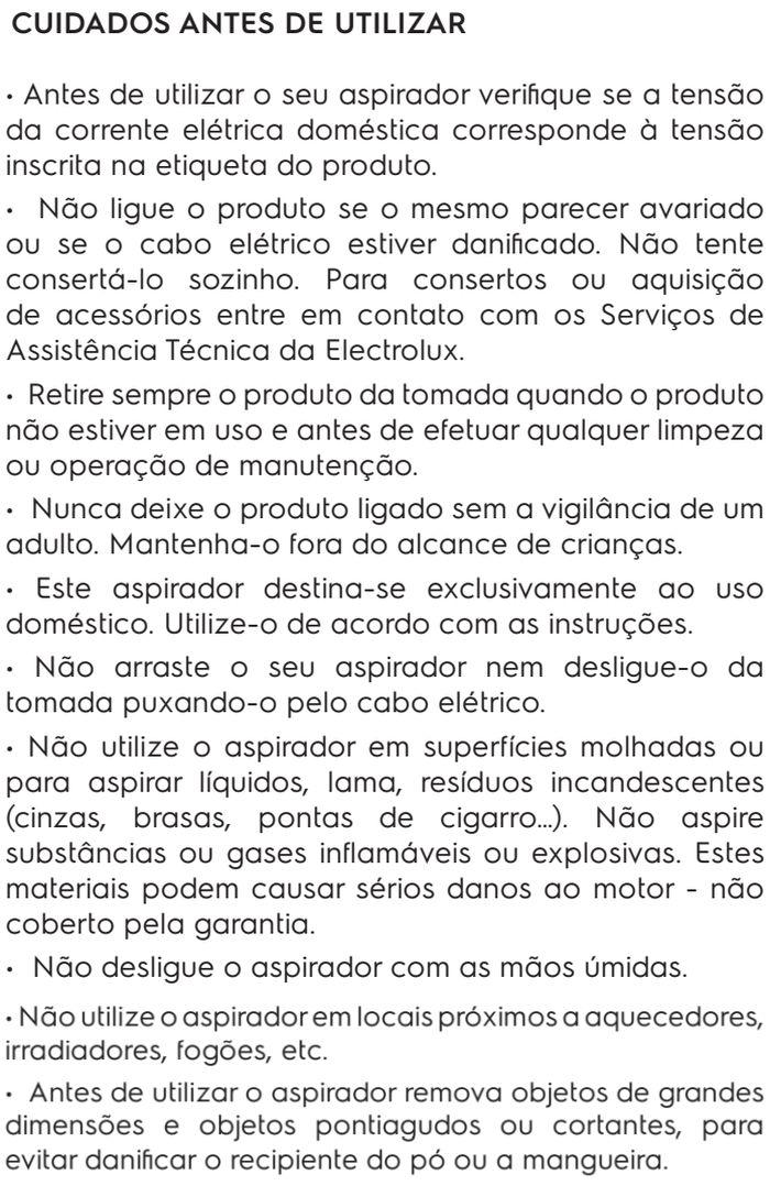 Aspirador de pó Electrolux - SON01 - usando o produto 1