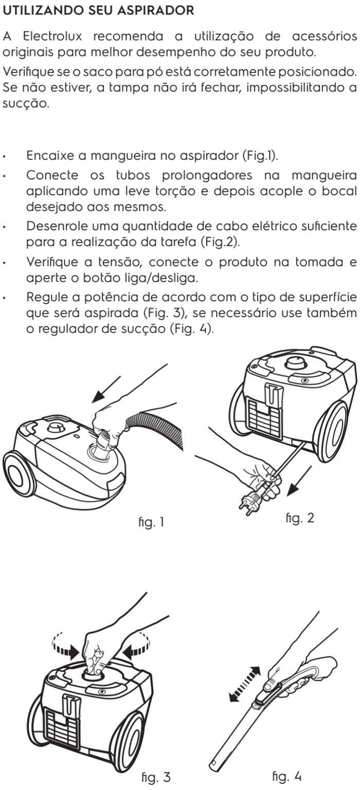 Aspirador de pó Electrolux - SON01 - usando o produto 2