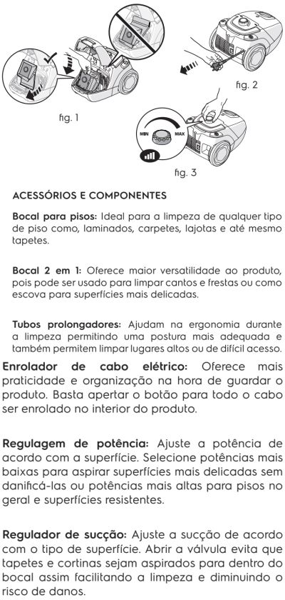 Aspirador de pó Electrolux - SON10 - usando o produto 2