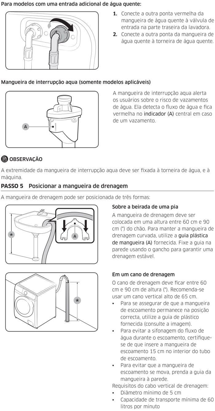 Lava e seca Samsung - WD90J6 - instalando produto 5