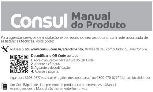 Geladeira Consul - capa manual