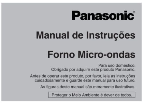 Microondas Panasonic - capa manual