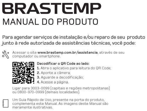 Secadora de Roupas Brastemp - capa manual
