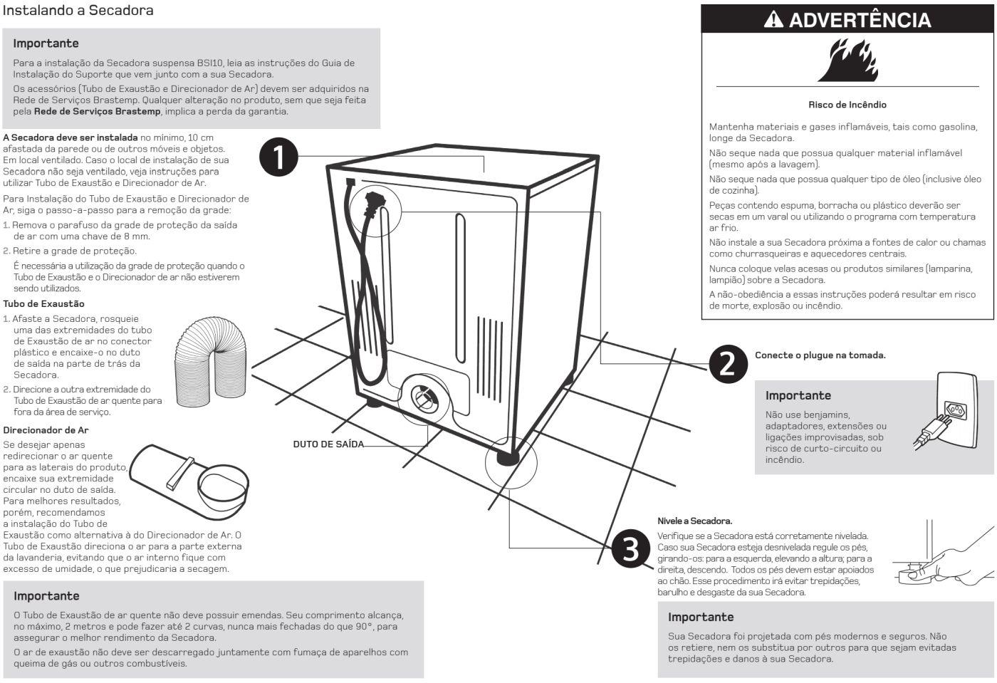 Secadora de Roupas Brastemp - BSX10 - instalando produto 2