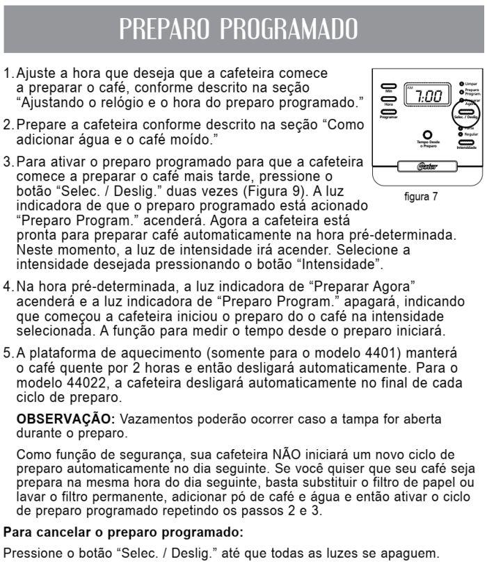 Cafeteira elétrica Oster - BVSTDC4401 - usando produto 4