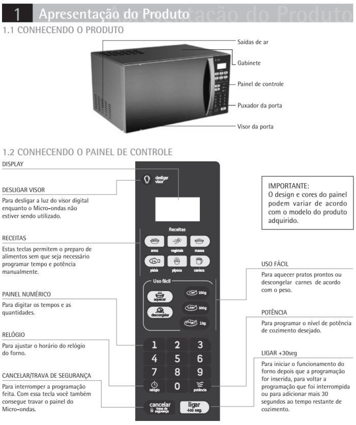 Microondas Consul - CMA20 - conhecendo produto