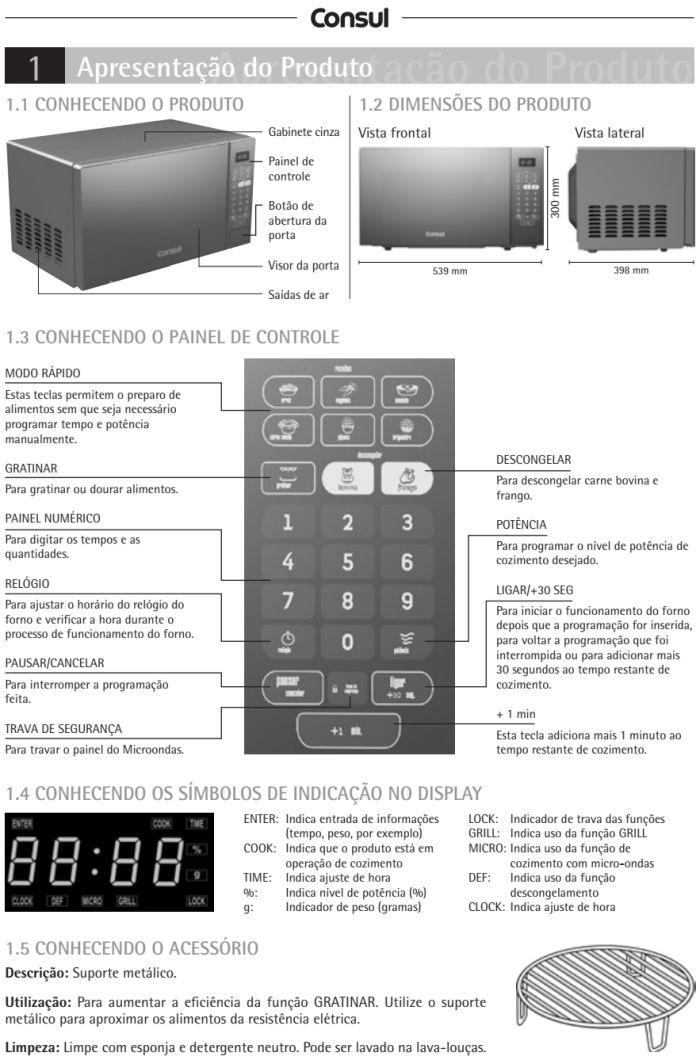 Microondas Consul - CMA30 - conhecendo produto