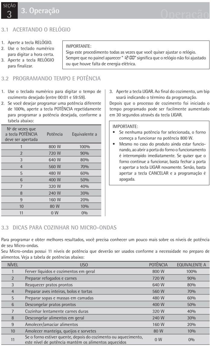 Microondas Consul - CMS26 - usando produto 1