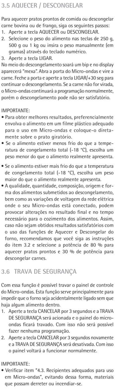 Microondas Consul - CMS26 - usando produto 4