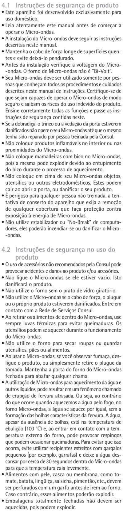 Microondas Consul - CMA30 - usando produto - dicas 1