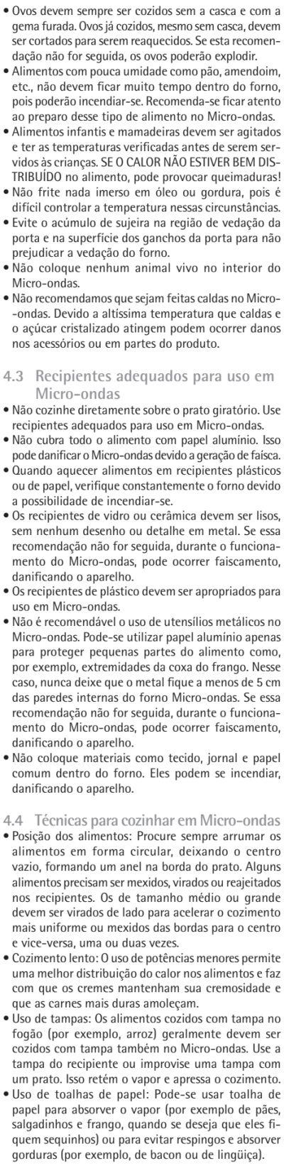 Microondas Consul - CMA30 - usando produto - dicas 2