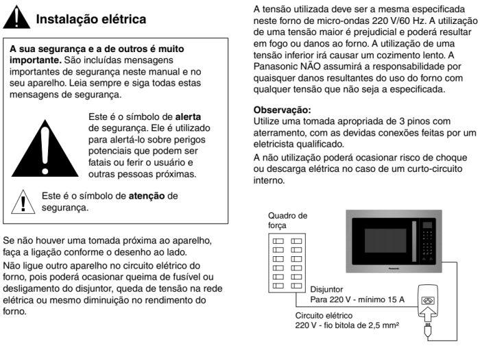 Microondas Panasonic - GB686 - instalando produto 2