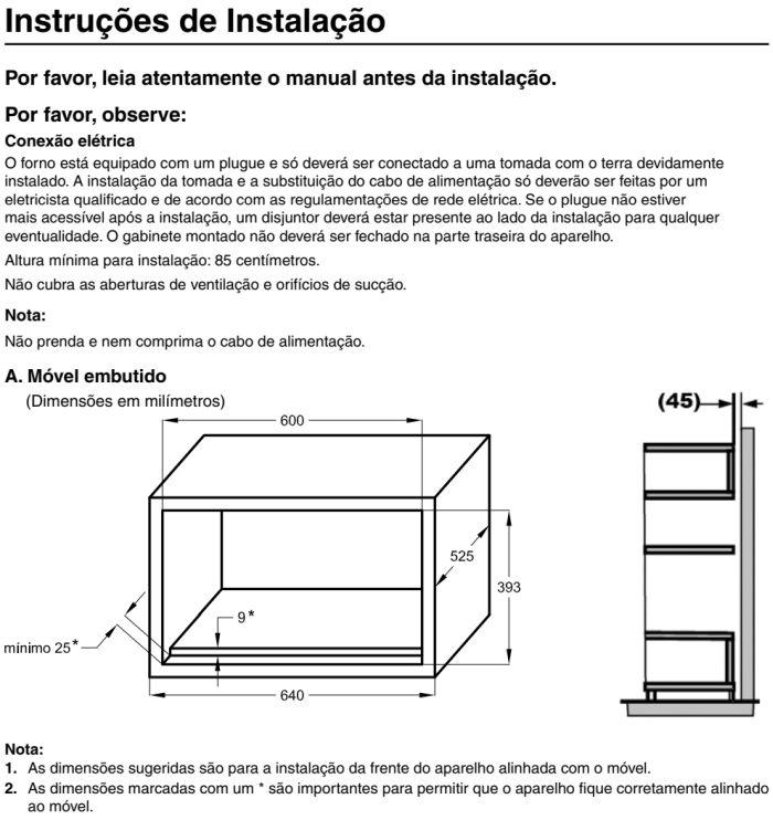 Microondas Panasonic - GB686 - instalando produto 3