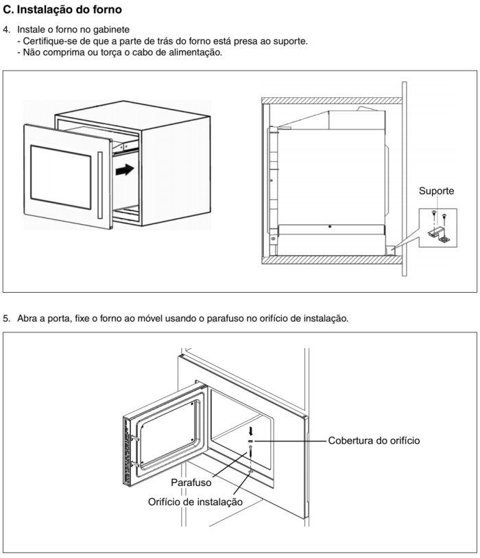 Microondas Panasonic - GB686 - instalando produto 5