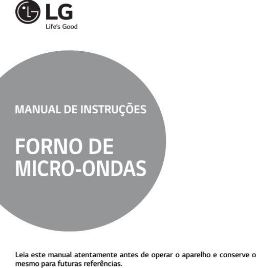 Microondas LG - capa manual