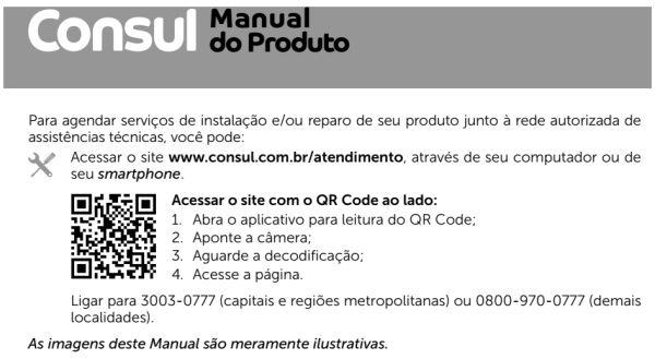 Microondas Consul - capa manual