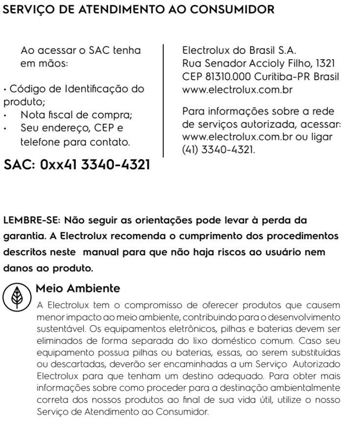 Panela de pressão elétrica Electrolux - PCE20 - solução de problemas - SAC