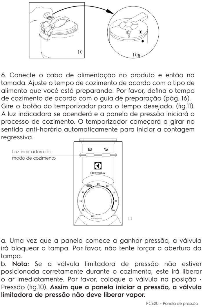 Panela de pressão elétrica Electrolux - PCE20 - usando produto 4