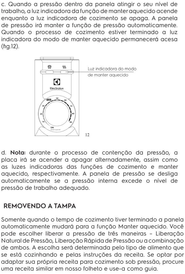 Panela de pressão elétrica Electrolux - PCE20 - usando produto 5