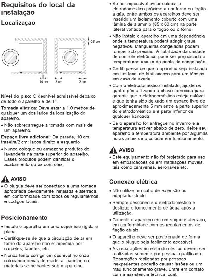 Lava e seca LG - WD11SB6D - instalando produto 1