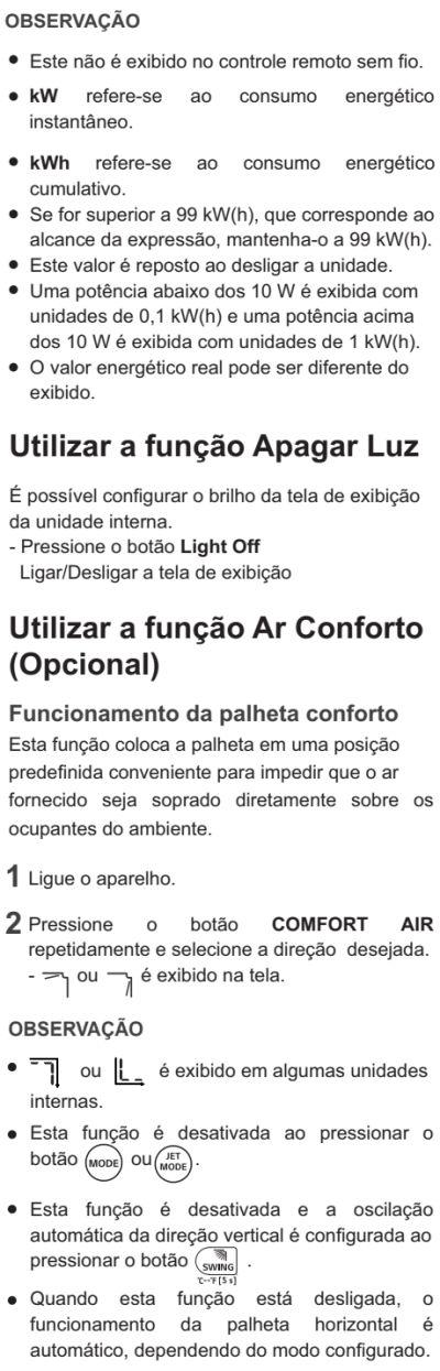Ar condicionador LG - US-Q092 - como usar 10