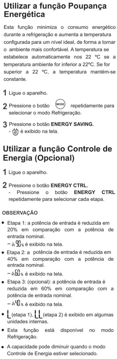 Ar condicionador LG - US-Q242 - como usar 11