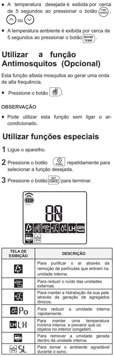 Ar condicionador LG - US-Q242 - como usar 12