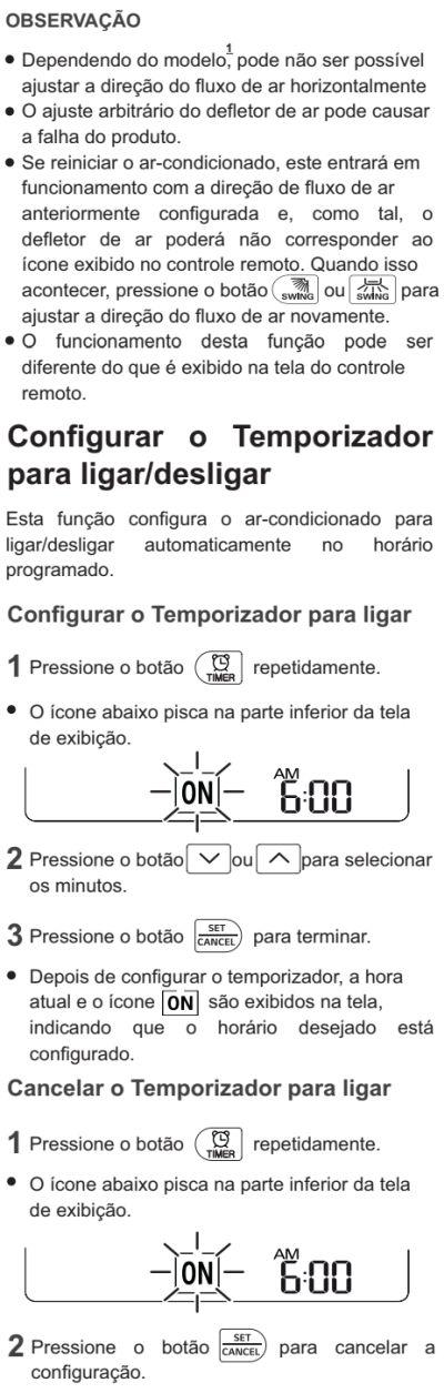 Ar condicionador LG - US-Q092 - como usar 6