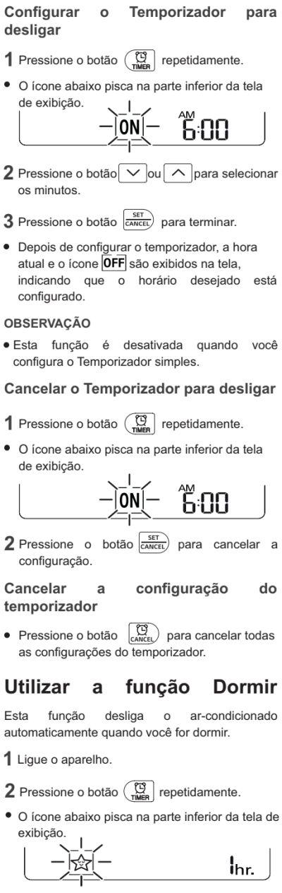 Ar condicionador LG - US-Q092 - como usar 7