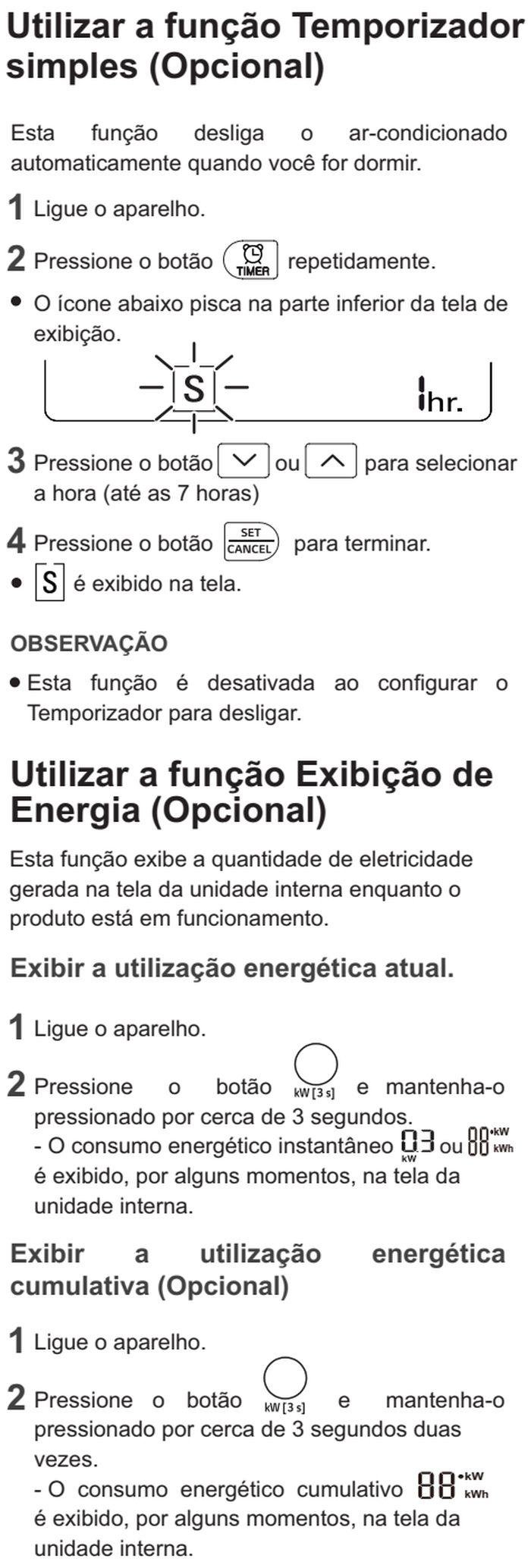 Ar condicionador LG - US-Q092 - como usar 9