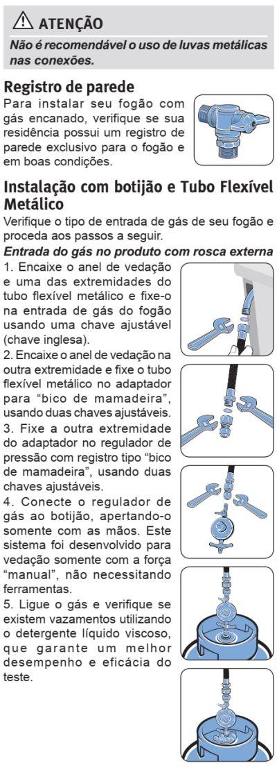 Fogão Electrolux - 76EVX - instalando o produto 12