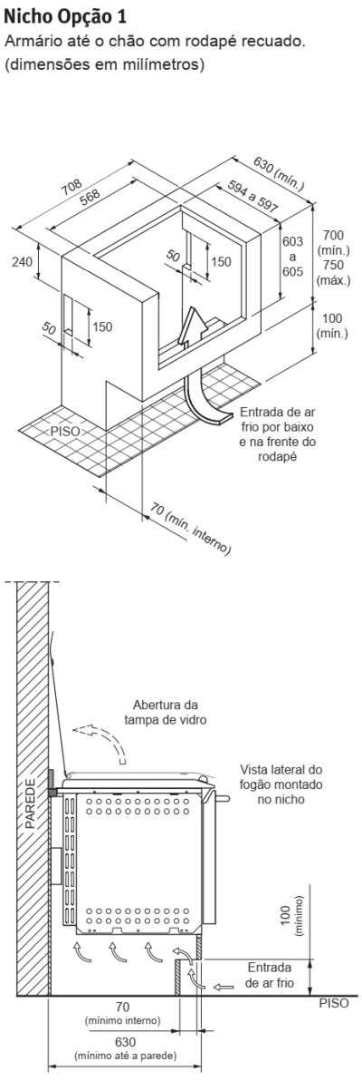 Fogão Electrolux - 56EAB - instalando o produto 2