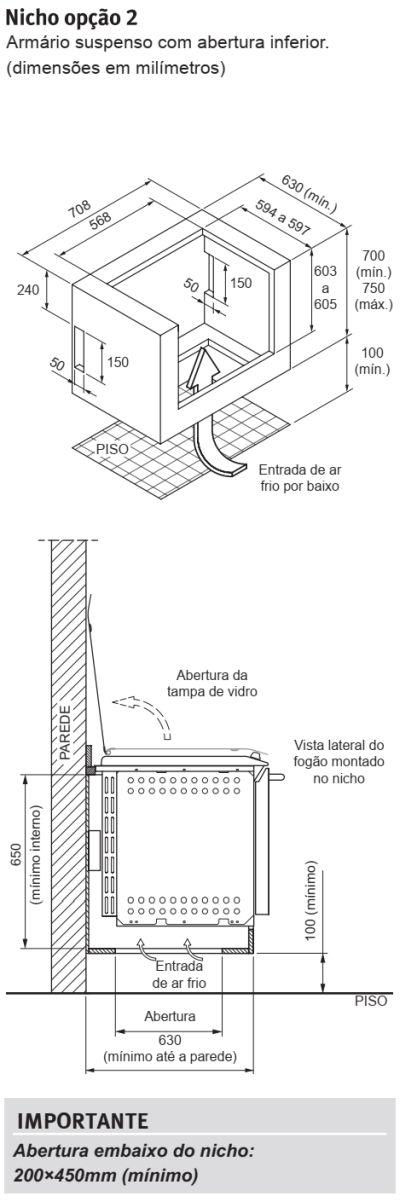 Fogão Electrolux - 56EAB - instalando o produto 3