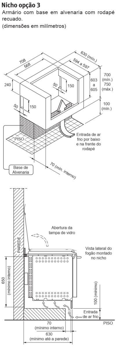 Fogão Electrolux - 56EAB - instalando o produto 4